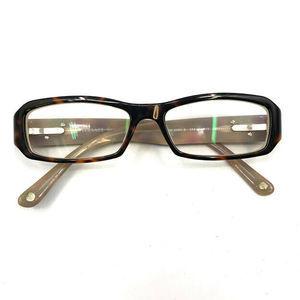 Versace Eyeglasses Tortoise Rectangular Italy